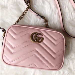 🌸 Pink Gucci GG Marmont Camera Bag 🌸